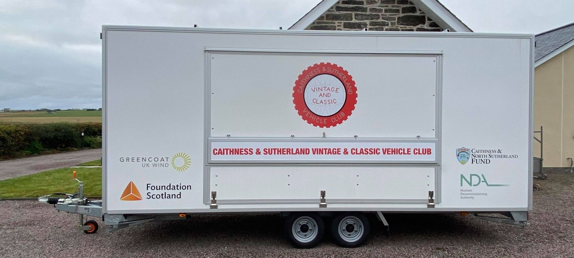 Caithness and Sutherland Vintage and Classic Vehicle Club Purchases a New Trailer